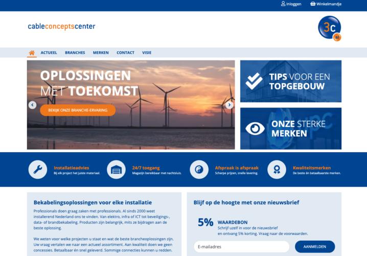 Screenshot website Cable Concepts Center