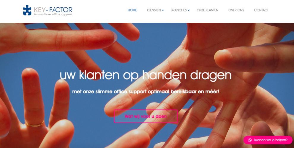 Desktop weergave website key-factor.nl