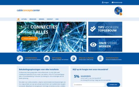Desktop weergave website cableconceptscenter.com
