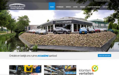 Desktop weergave website doornekamp.nl