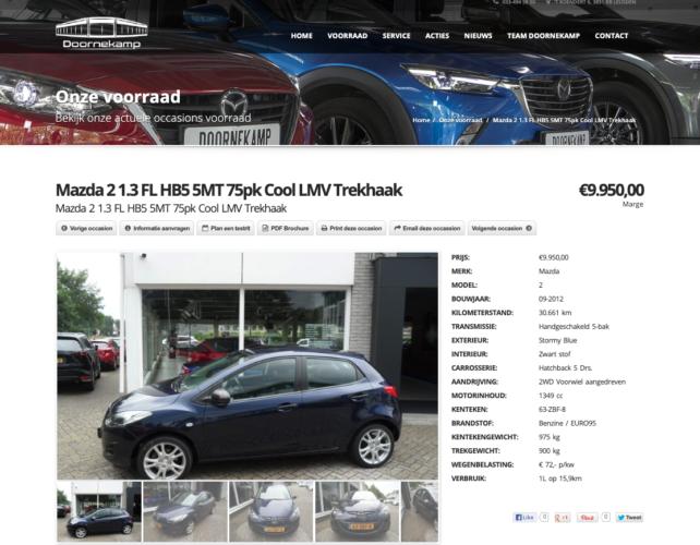 Screenshot 2 website Doornekamp