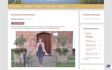 Desktop weergave website training.mirjamvandervegt.nl
