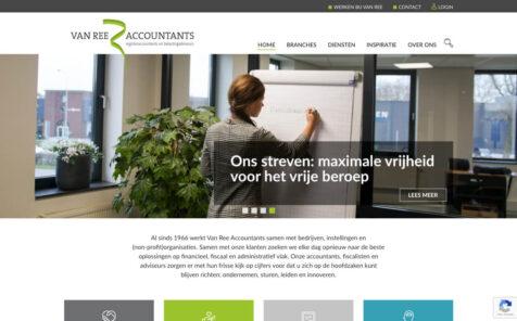 Desktop weergave website vanreeaccountants.nl