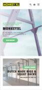 Mobiele weergave website monkeyxl.com