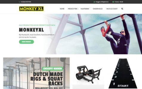 Desktop weergave website monkeyxl.com