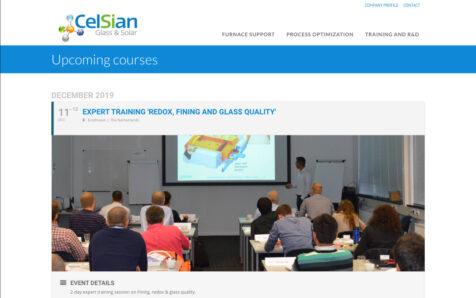 Desktop weergave website celsian.nl/academy