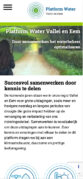 Mobiele weergave website pwve.nl
