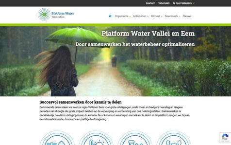 Desktop weergave website pwve.nl