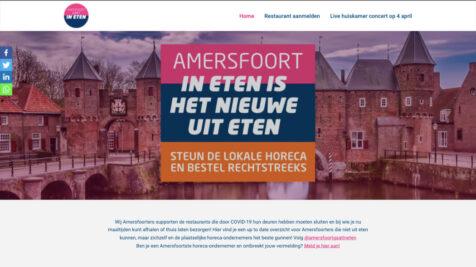 Desktop weergave website Amersfoort Gaat In Eten