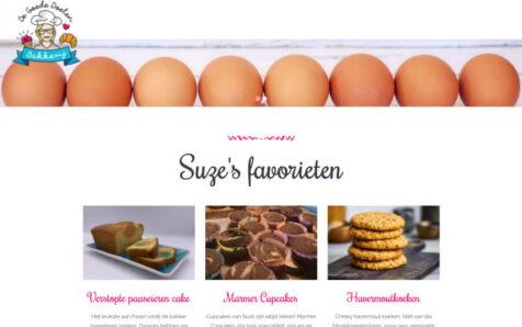 Desktop weergave website degoededoelenbakkerij.nl