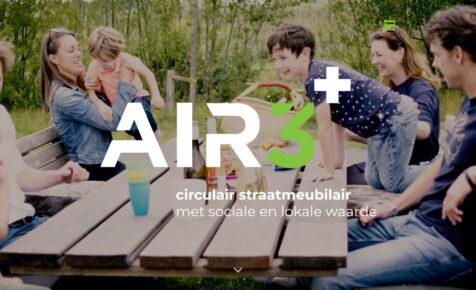 Desktop weergave website air3plus.nl