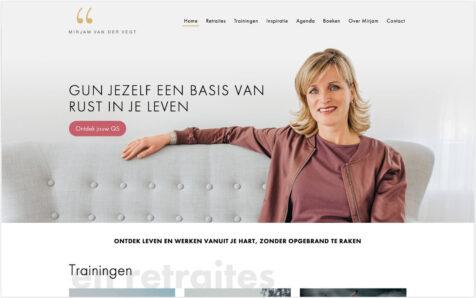 Desktop weergave website mirjamvandervegt.nl