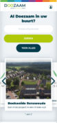 Mobiele weergave website doezaam.nl