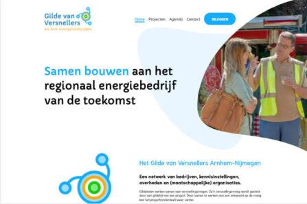 Desktop weergave website gildevanversnellers.nl