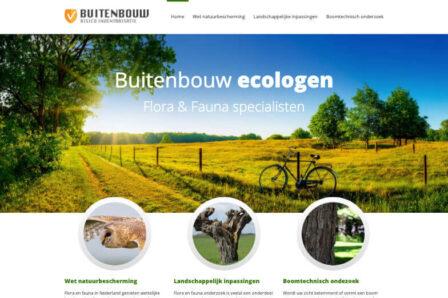 Desktop weergave website ri-buitenbouw.nl